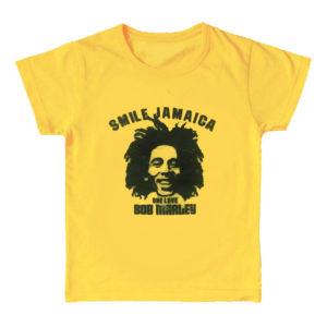 Bob Marley Smile Jamaica キッズ ロックTシャツ